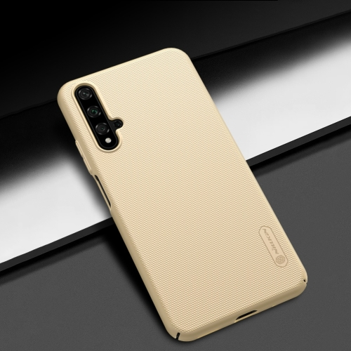 NILLKIN Frosted Shield Concave-convex Texture PC Protective Case Back Cover for Huawei Honor 20 (Gold)