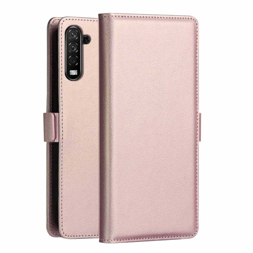 DZGOGO MILO Series PC + PU Horizontal Flip Leather Case for Galaxy Note 10, with Holder & Card Slot & Wallet (Rose Gold)