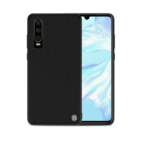 NILLKIN Nylon Fiber 3D Textured TPU Case for Huawei P30 (Black)