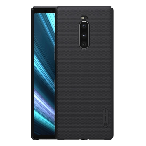 NILLKIN Frosted Shield Concave-convex Texture PC Protective Case Back Cover for Sony Xperia 1 (Black)