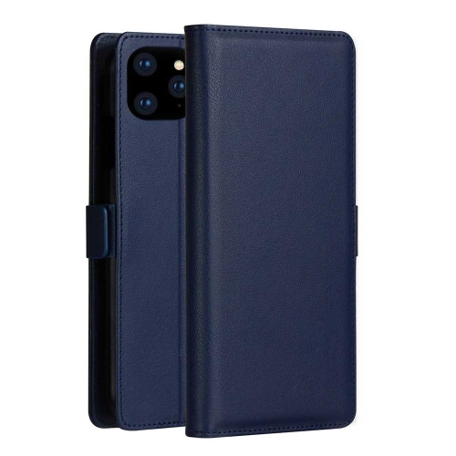 DZGOGO MILO Series PC + PU Horizontal Flip Leather Case for iPhone 11 Pro, with Holder & Card Slot & Wallet (Blue)