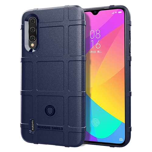 Shockproof Protector Cover Full Coverage Silicone Case for Xiaomi Mi CC9 (Blue) фото