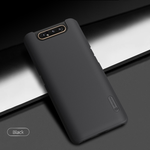 NILLKIN Frosted Shield Concave-convex Texture PC Protective Case Back Cover for Galaxy A80 / A90 (Black)