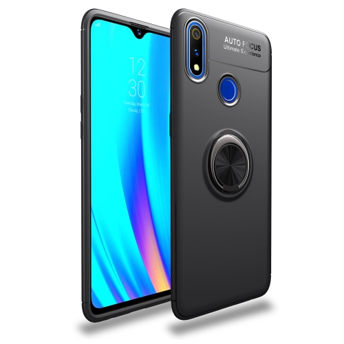 Shockproof TPU Case for  Realme 3 Pro, with Invisible Holder (Black)