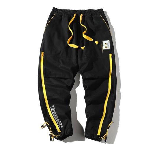 Sunsky Trendmultibolsillos Casual Pantalones Sueltos Con Vigas Para Hombre Color Negro Talla Xl
