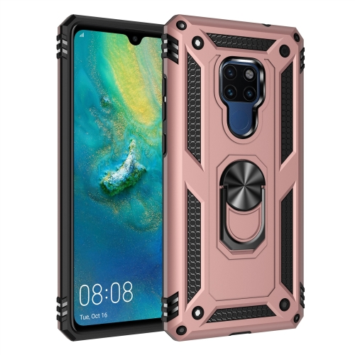 For Huawei Mate 20 Armor Shockproof TPU + PC Protective Case with 360 Degree Rotation Holder (Rose Gold) фото