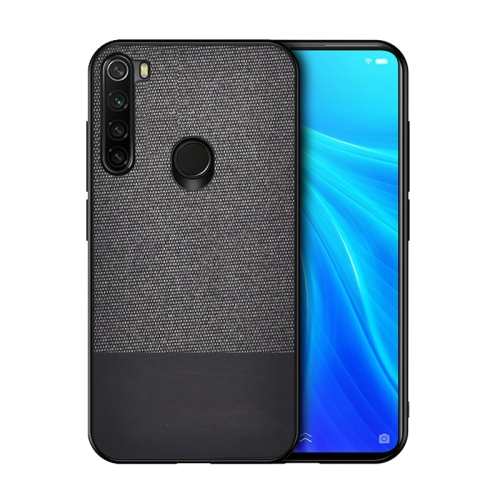 For Xiaomi Redmi Note 8 Shockproof Splicing PU + Cloth Texture PC + TPU Protective Case (Black) фото