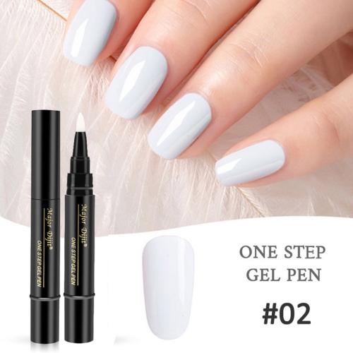 Nail Polish 3 In 1 Nail Gel Pen Nail Pen Lazy Glue Long-lasting Nail Polish Pen 5ml (#02)