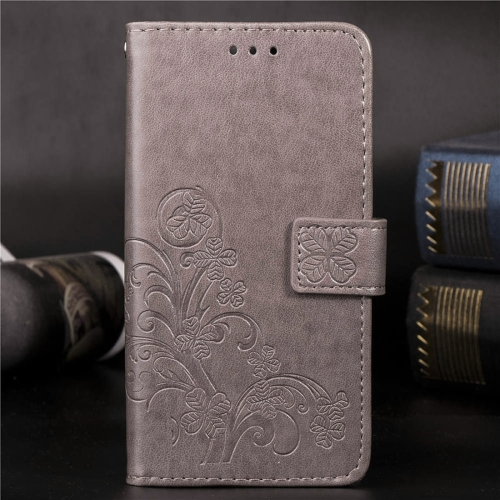 For Nokia 8.1 (Nokia X7) Pressed Flowers Horizontal Flip Leather Case With Magnetic Buckle & Holder & Card Slots & Wallet (Gray)