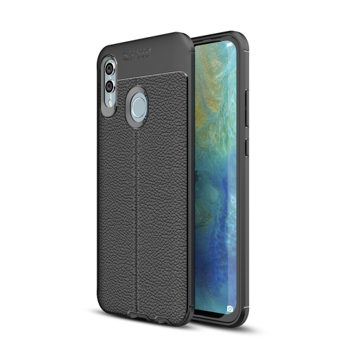 Litchi Texture TPU Shockproof Case for Huawei Honor 10 Lite / P Smart 2019 (Black)
