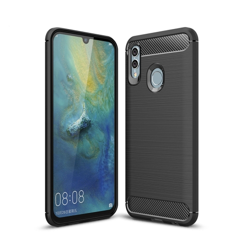 Carbon Fiber Texture TPU Shockproof Case For Huawei Honor 10 Lite / P Smart 2019