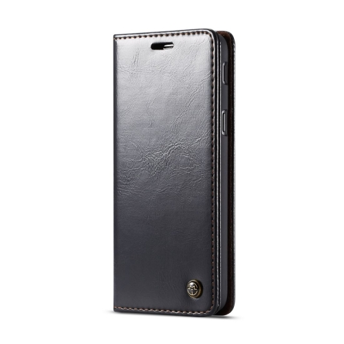 CaseMe-003 Series PC + PU Horizontal Flip Leather Case for Galaxy J6 (2018), with Magnetic Buckle & Holder & Card Slot & Wallet