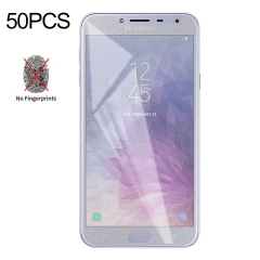 No Retail Package Screen Protector Film LGYD 50 PCS Non-Full Matte Frosted Tempered Glass Film for Galaxy J4